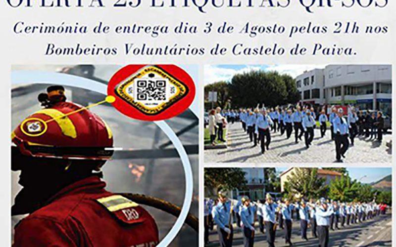 Rotary Club de Castelo de Paiva oferece 25 etiquetas SOS aos BV de Castelo de Paiva