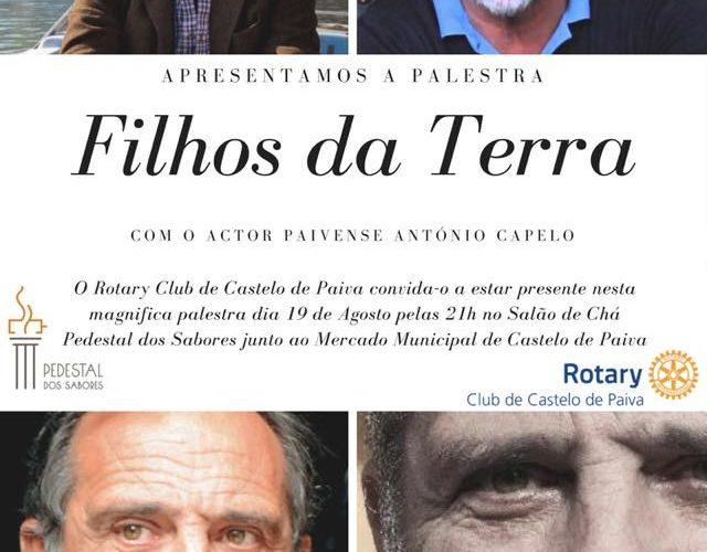 Ator António Capelo em palestra organizada pelo Rotary Club de Castelo de Paiva