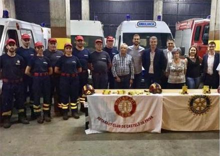 R C Castelo de Paiva entregou 25 Kits SOS QR-Code aos Bombeiros Voluntários
