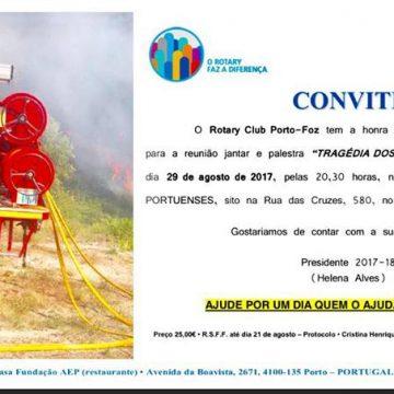RC Porto Foz prepara palestra sobre: A Tragédia dos Incêndios
