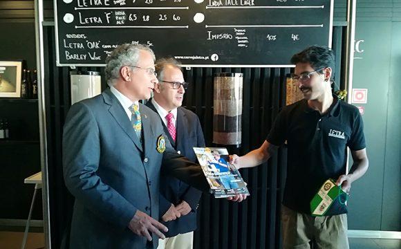 Soares Carneiro visitou a fábrica da Cerveja Letra