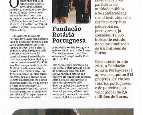 Fundação Rotária Portuguesa é notícia na Revista Rotary Distrito 1970