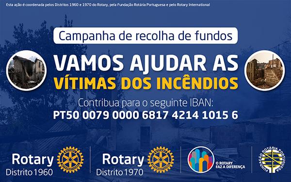 Fundação Rotária Portuguesa associa-se à campanha Fundo de Calamidades do Rotary