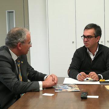 Soares Carneiro conheceu as instalações da Lugrade em Coimbra