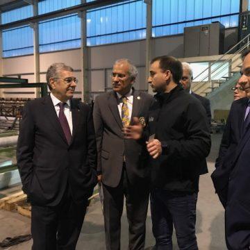 Soares Carneiro visitou a Adla – Aluminium em Celorico de Basto