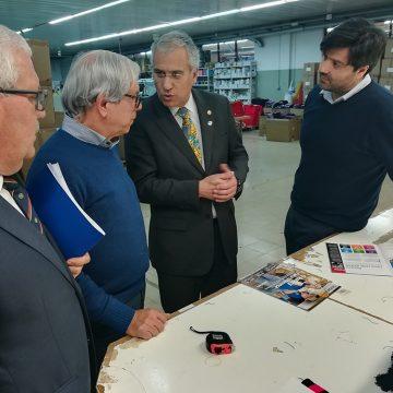 Governador do Distrito 1970 conheceu as instalações da 4Team em Vizela