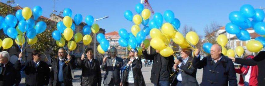 Rotary Club de Vila Real lança 113 balões para comemorar o aniversário do Rotary International