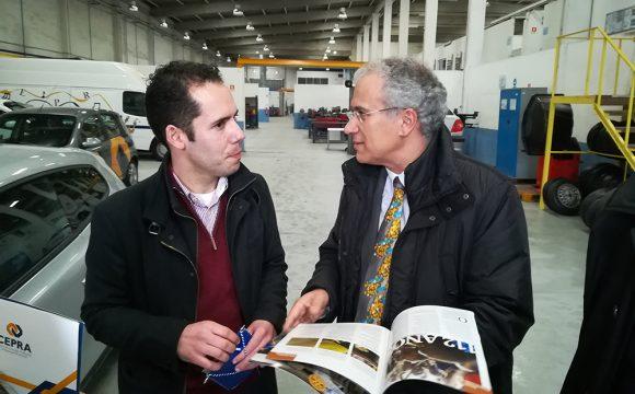 Governador do Distrito 1970 conheceu o Centro de Formação Profissional da Reparação Automóvel