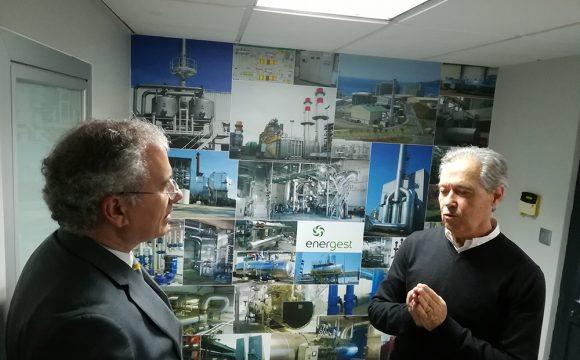 Soares Carneiro conheceu as instalações da Energest