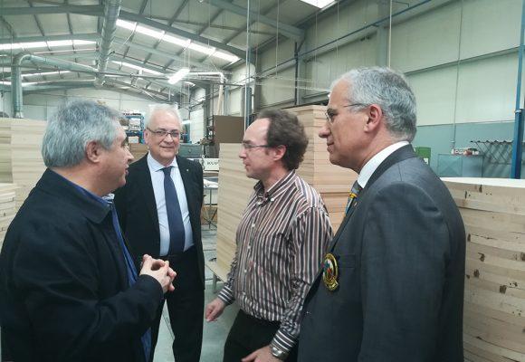 Soares Carneiro conheceu as instalações da J. Moreira da Silva