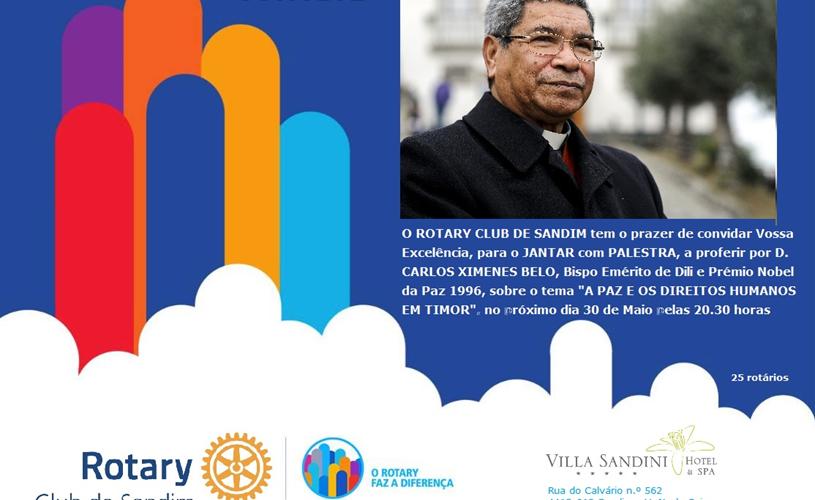 RC Sandim organiza palestra com D. Carlos Ximenes Belo
